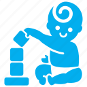 baby, boy, child, learn, play, toddler, toy icon