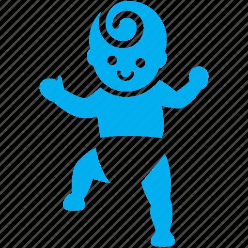 baby, boy, dance, kid, step, toddler, walk icon