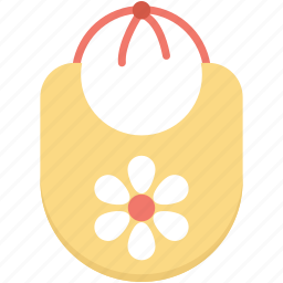 baby bib, baby bib apron, baby clothes, baby wearing, newborn clothes icon