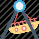 swing boats, ship swing, dragon swing, boat, swing