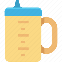 baby cup, drinking beaker, sippy cup, toddler cup, training cup icon