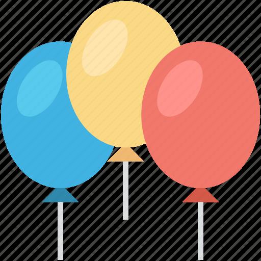 balloons, birthday balloons, decoration balloons, party balloon, party decorations icon