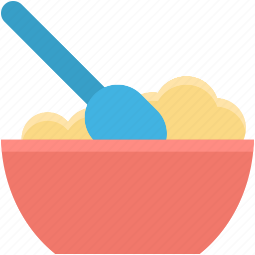 baby food, baby meal, baby nutrition, mash food, spoon icon