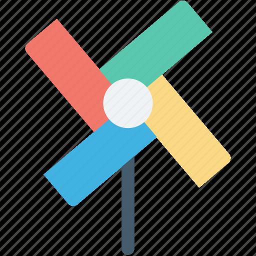 colors fan, fan, pinwheel, propeller, rotate icon