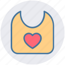 baby, bib, food, kids, mess, protect, small icon