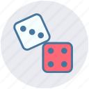 baby, dice, gamble, gambling, game, roll, toy icon