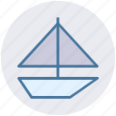 baby toy, boat, child, kid, ship, toys, water icon