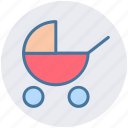 baby buggy, care, child, family, kids, mother, parents icon
