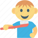 baby brush, brush, brushing, kid, toddlers icon