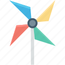 colors fan, fan, pinwheel, propeller, rotate icon