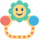 rattle, baby rattle, toy, baby toy, infancy icon
