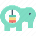 elephant rattle, music toy, elephant toy, baby toy, toddlers toy icon