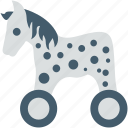 baby horse, horse, cradle, baby toy, toy icon