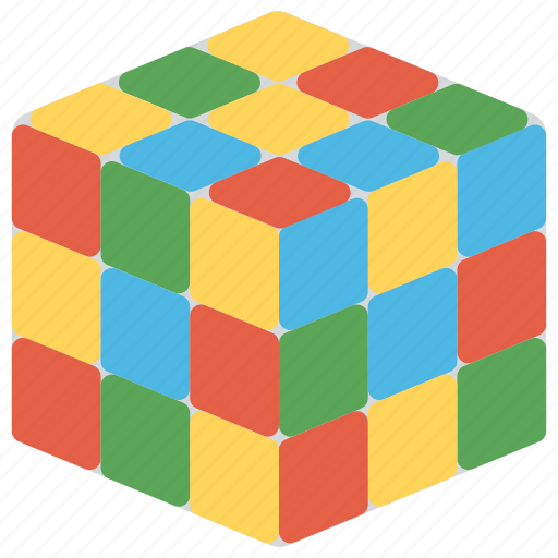 3d combination puzzle, magic cube, rubik cube, toy and games, toy magic cube icon