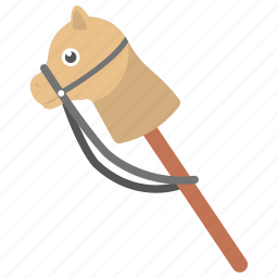 cock horse, hobby horse, kids toy, stick horse, toy horse icon