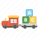kids toy, kids train, stacking train, toddler train, toy train icon