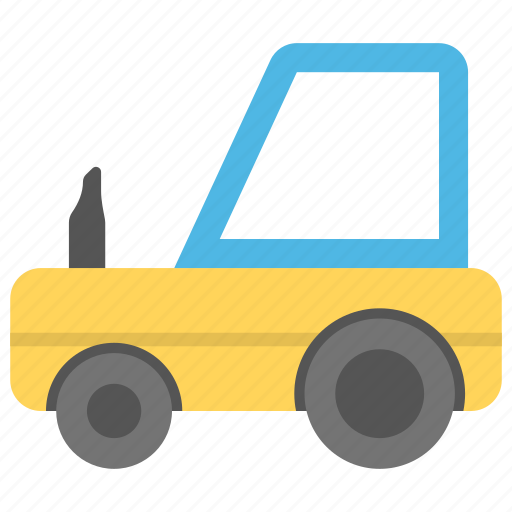 kid toy, playtime, toy farm tractor, toy tractor, toy transport icon