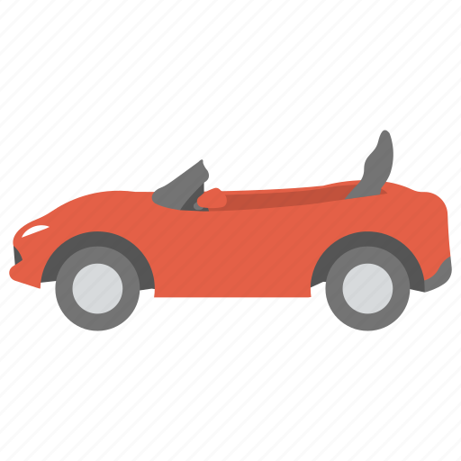 cabriolet sports car, convertible car, kids car, red car, toy car icon