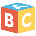 abc block, alphabet blocks, alphablocks, education, kindergarten icon