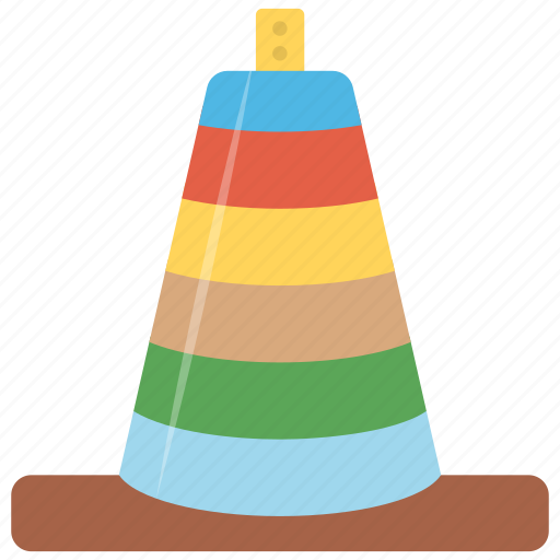 colorful rings, kids toy, rock-a-stack, stacking rings, toddlers toy icon