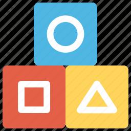 blocks, building blocks, building bricks, plastic blocks, toy blocks icon
