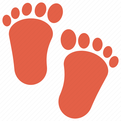 baby care, baby foot, foot step, footprint, toddler feet icon