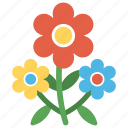 baby breath, colorful flowers, decorative flowers, flowers, generic flower icon