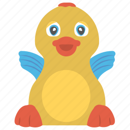 bathing toy, duck, rubber duck, toy animal, water toy icon