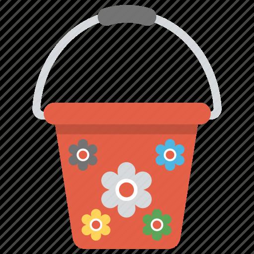 bucket, colorful bucket, girl bucket, pail, red bucket plastic bucket icon