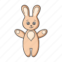 bunny, play, rabbit, soft, toy icon
