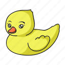 baby, ducky, play, toy icon