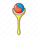 baby, children's, play, rattle, toy icon