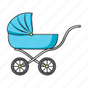 awning, baby, child, stroller, transport, walk icon
