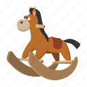 baby, cartoon, child, childhood, cute, horse, wheel icon