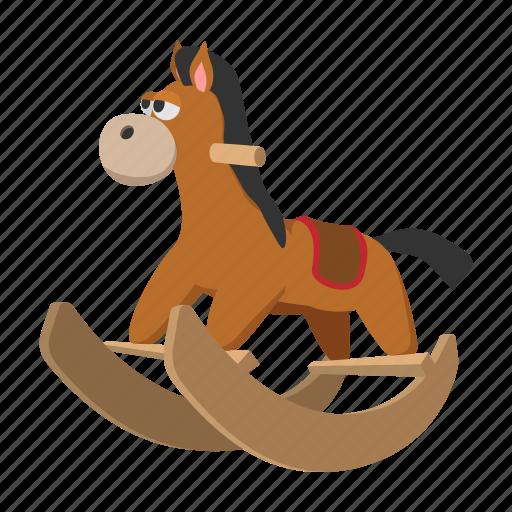 baby, cartoon, child, childhood, cute, horse, wheel icon