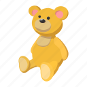 baby, bear, cartoon, fun, mammal, sitting, teddy icon