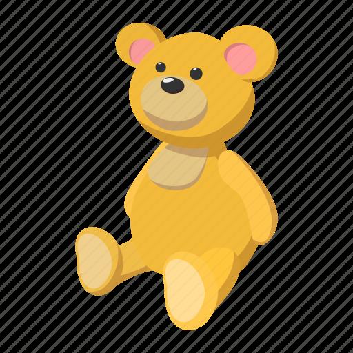 baby, bear, cartoon, fun, mammal, sitting, teddy icon