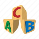 abc, alphabet, block, cube, kids, letter, toy icon