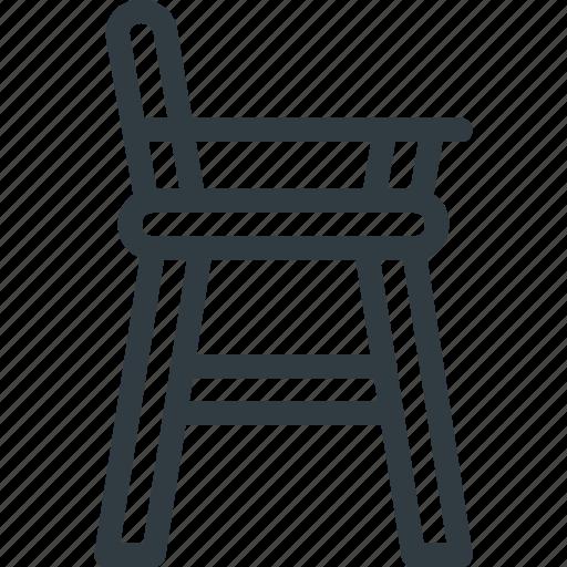 baby, chair, child, children, feeding, furniture icon