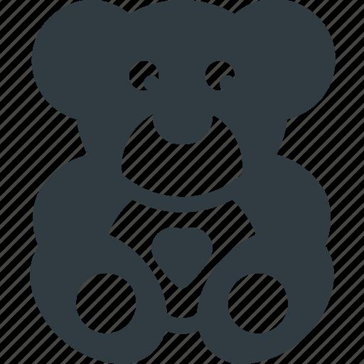 baby, bear, child, children, teddy, toy icon