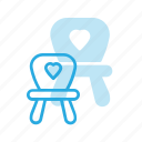 baby, chair, child, children, furniture icon