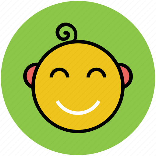baby, character, child, cute, face, family baby icon