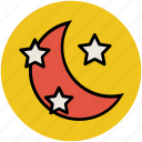 dreamlike, fantasy, moon and star, night, sky icon