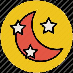 dreamlike, fantasy, moon and star, night, sky icon