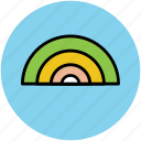 curve, nature, rainbow, shape, sign icon