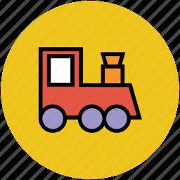 baby, enjoyment, fun, play, toy, toy train, train icon