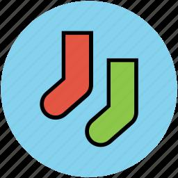 footwear, socks, stocking, winter, winter wear icon