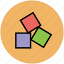 baby, childhood, cube shape, cubes, fun, toy, toy blocks icon