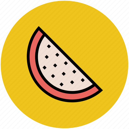 food, fruit, healthyfood, slice, watermelon icon
