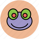 cartoon, face, frog, toad, toad frog icon